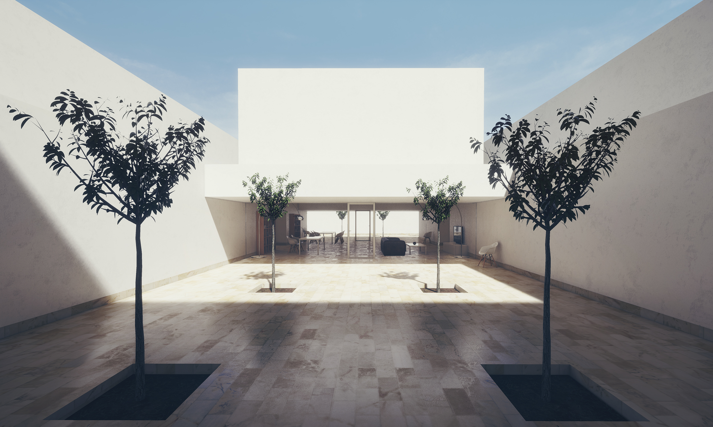 guerrero house by alberto campo baeza unreal engine 4 archviz skyline. Black Bedroom Furniture Sets. Home Design Ideas